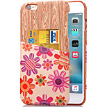 KARZEA™ Pink Flower Pattern PU Leather Back Cover Case with Card Holder for iPhone 6/6S(Assorted Colors)