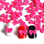 50 / Bag Red Bow Manicure Resin Resin Accessories(1Set=50)