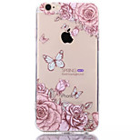Peony TPU+Acrylic Anti-Scratch Backplane Combo Phone Case for iPhone 6/6S