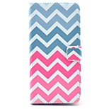 Pink Wave Pattern PU Leather Stand Case Cover with Card Slot for iPhone 6 Plus/6S Plus 5.5 inch