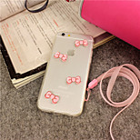 iFashion® Girl Pink Bowknot Lovely TPU Soft Case for iPhone 5/5s