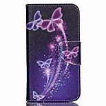 farfalle colorate dipinte cassa del telefono dell'unità di elaborazione per Wiko lenny 2