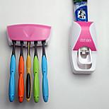 Automatic Toothpaste Dispenser +Toothbrush Holder Bathroom Set Wall Mount Rack Bath set