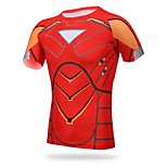 Others Men's Cycling Tops Short Sleeve Bike Autumn Breathable / Ultraviolet Resistant / Sweat-wicking / Compression Red