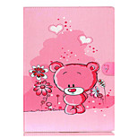 rosa modello orso capovolgere il caso di protezione titolare della carta per ipad pro