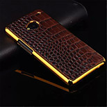 alta qualità placcatura d'oro pc + pu coperture del telefono materiale in pelle per htc uno M8 / M7 / m9 (colori assortiti)