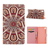 Flower Pattern Card Stand Leather Case for Sony Xperia Z3/Z4