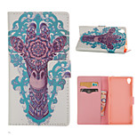 Deer Pattern Card Stand Leather Case for Sony Xperia Z3/Z4