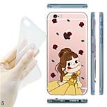 maycari®peka cambiar la ropa suave TPU transparente detrás encajona para iPhone5 5s / iphone (colores surtidos)