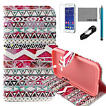 COCO FUN® Tribal Rose Pattern PU Leather Case with V8 USB Cable, Flim and Stylus for Samsung Galaxy Core Prime G360