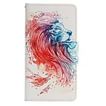 Lion Painted PU Phone Case for Huawei P8 Lite/P8
