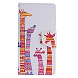 Color Giraffe Painted PU Phone Case for Huawei P8 Lite/P8