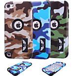 Special Design Novelty Wood Grain Silicone PC Back Case Camouflage Color for Touch 5 (Assorted Colors)