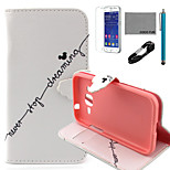 COCO FUN® Never Stop Dream Pattern PU Leather Case with V8 USB Cable, Flim and Stylus for Samsung Galaxy Core Prime G360
