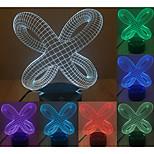 3d abstrait atmosphère visuelle de l'humeur de modèle conduit décoration usb lampe de table cadeau coloré lumière de nuit