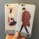Cartoon Artistic Young Lovers Acrylic TPU Material 2 in 1 Back Cover Case for iPhone 6S/6 Plus