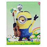 Comedy Small Yellow People Pattern PU Leather Case with Stand and Card Slot for iPad Mini 3/2/1