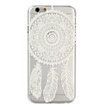 Transparent Round Flower PC Material Phone Case for iPhone 6/6S