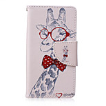 Giraffe Painted PU Phone Case for Sony Xperia Z5 Compact