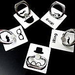 Gentleman Characteristic Ring Metal Sticker Stand for Samsung and iPhone(Random Color)