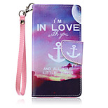 New Lanyard  Sky Anchors Pattern PU Leather Material Phone Case for Huawei P8 Lite