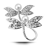 New Exquisite Double Dragonfly Brooch