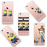 MAYCARI®Mr. Minions Good Friends Soft Transparent TPU Back Case for iPhone 6/iphone 6S(Assorted Colors)