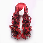 Cosplay Wigs 70cm Long Curly Ombre Color Ladies Synthetic Hair Wig