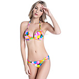 SWIMMART Women Bikini Set New Style Fashion Fresh Print Small Butt Plus Size Lady Sexy Push Up M.L.XL.2XL DM074