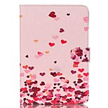 Pink love Pattern PU Leather Full Body Case with Stand for iPad Mini 3/2/1