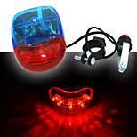 Luces para bicicleta , Luz Delantera - 7 Modo 200LM Lumens con el cuerno / Fácil de llevar AA x 2 Batería Ciclismo/Bicicleta Azul