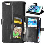 Mehrfarben-PU-Leder 9 Card-Köchertasche für iphone 6 plus / 6s plus (verschiedene Farben)