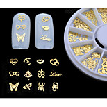 - Finger / Zehe - 3D Nails Nagelaufkleber - Metall - 1set (120pcs) Stück - mix sizes cm