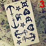 Temporary Tattoos Stickers Non Toxic Glitter Waterproof Multicolored Glitter 1 Package 17*13CM