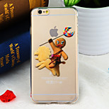 Chirstmas Gingerbread Run Pattern TPU Soft Back Cover for iPhone 6/6S