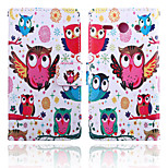 Bird Pattern Card Stand Leather Case for Huawei Y530/Y550