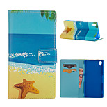 Sandy Beach Pattern Card Stand Leather Case for Sony Xperia Z3/Z4