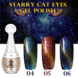 1PCS KOUYI Starry Cat Eyes Color Gel 12ml 12Colors Long Lasting Nail Polish 4-6
