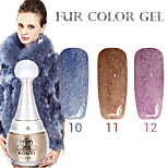 1PCS KOUYI Fur Color Gel 12Colors Long Lasting Nail Polish 10-12