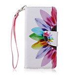 New Lanyard Sunflower Petal Flower Pattern PU Leather Material Phone Case for Huawei P8 Lite
