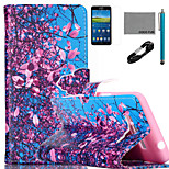 COCO FUN® Flower Tree Sky Pattern PU Leather Case with V8 USB Cable, Flim and Stylus for Samsung Galaxy Grand Prime G530
