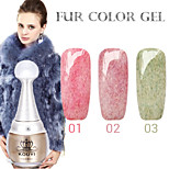 1PCS KOUYI Fur Color Gel 12Colors  Long Lasting Nail Polish 1-3