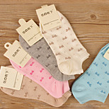 1 pairs Of Women Girls' Bowknot Ankle Low Cut Sport Casual Cotton Socks Random Color New Hot Selling Ship Socks
