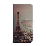 Paris Iron Tower Pattern Card Stand Leather Case for iPhone 6/6S