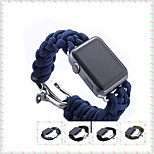 Newest Patent Design Parachute Cord Watch Bands for Apple Watch Strap for Outdoor Sports Activity