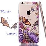 mela farfalla bacio tpu + acrilico antigraffio cassa del telefono backplane combinata per il iphone 6 / 6s