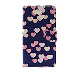 Printed Colorful Heart PU Leather Full Body Case with Stand for Sony Xperia M4 Aqua