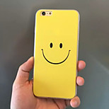 Yellow Smile Emotion Acrylic TPU Material 2 in 1 Back Cover Case for iPhone 6/6S