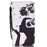 The New Blowing Petals Lanyard PU Leather Material Flip Card Cell Phone for iPod Touch 5/6