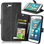 Crazy Horse Magnetic PU Leather Case Cover with Card Slots for Huawei Ascend G7 (Assorted Color)